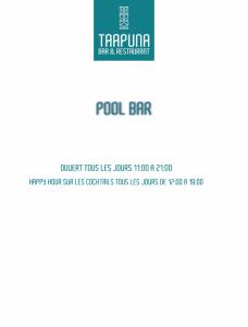 CARTE Bar Taapuna Pool-1